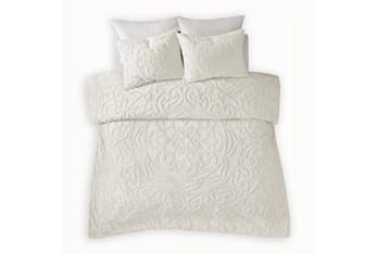 Twin/Twin Xl Comforter-2 Piece Set Tufted Chenille Cream