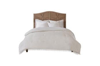 Twin Comforter-2 Piece Set Tassel Edged White