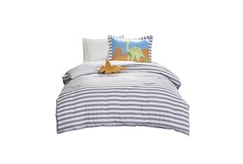 Twin Comforter-3 Piece Set Dinosaur Multi