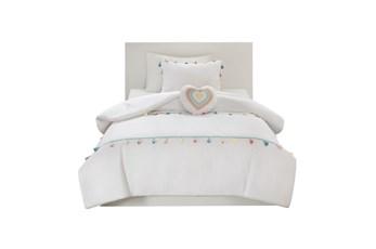 Full/Queen Comforter-3 Piece Set Tassel Multi