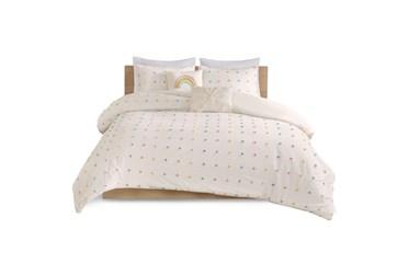 Full/Queen Comforter-5 Piece Set Pom Pom Multi