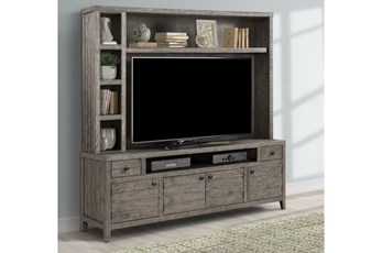 "Peoria Greystone 84"" 2 Piece Entertainment Center"