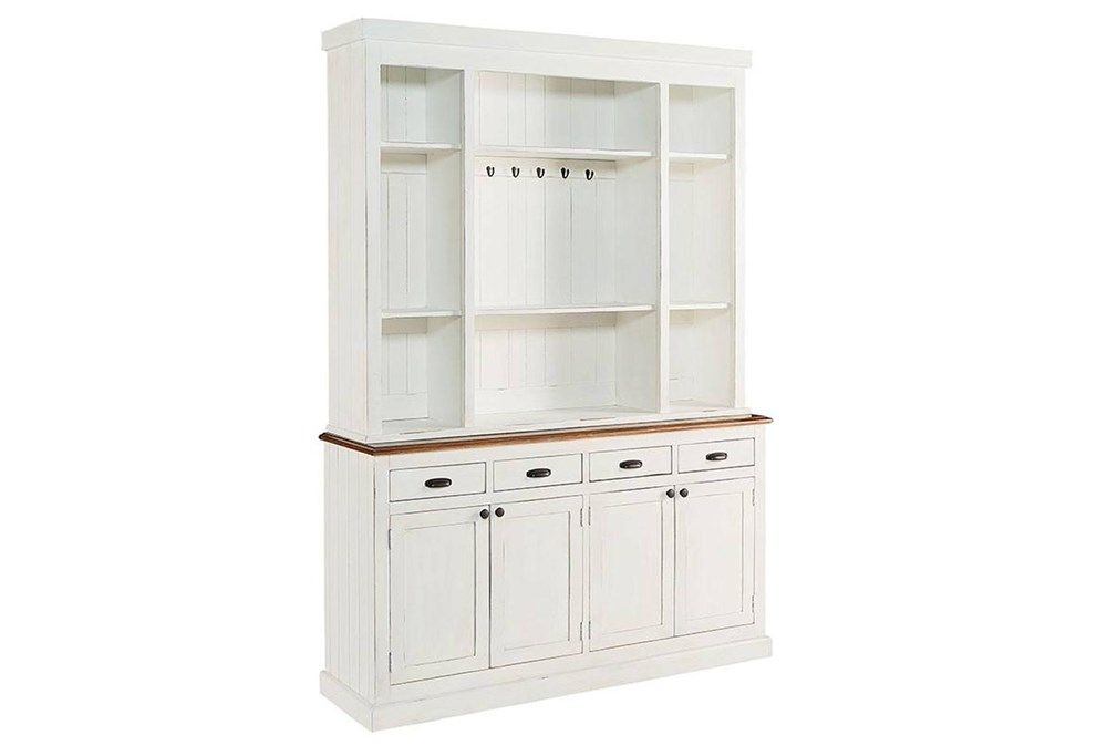 Magnolia Home White Baker's Pantry Hutch And Buffet By Joanna Gaines