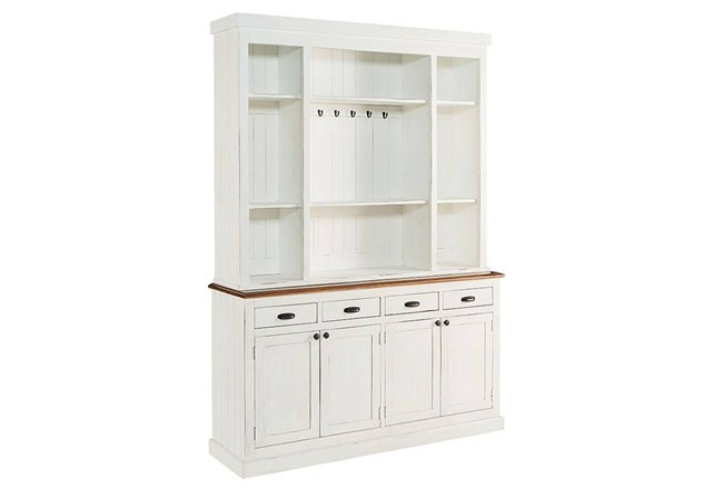 Magnolia Home White Baker's Pantry Hutch And Buffet By Joanna Gaines - 360