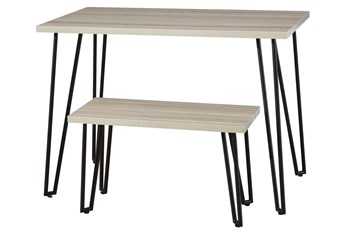 Greer Youth Black Leg Desk With Bench