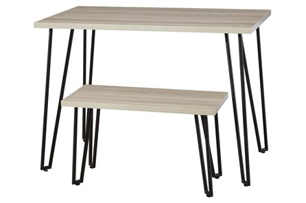 Greer Youth Black Leg Desk With Bench - Main