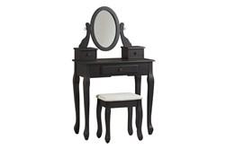 Caitlin Black Mirror Vanity With Stool