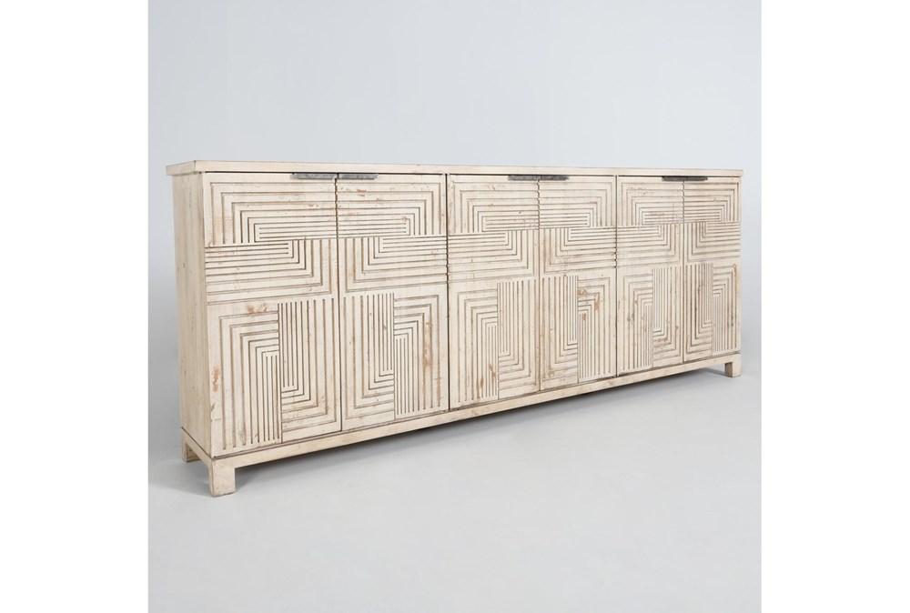 Reclaimed Wood Interlocking Squares 6 Door Sideboard