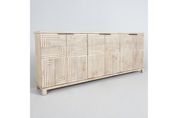 Reclaimed Wood Interlocking Squares 6 Door Sideboard