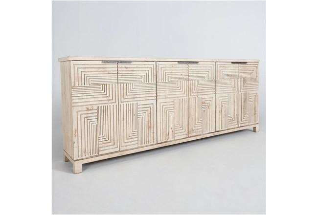 Reclaimed Wood Interlocking Squares 6 Door Sideboard - 360
