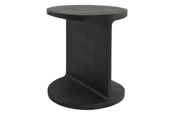 ROUND CAST IRON I-BEAM END TABLE