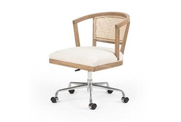 Oak + Cane Swivel Desk Chair