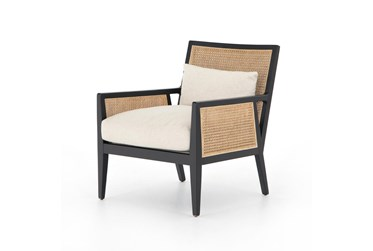Cane + Brushed Ebony Accent Chair