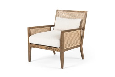 Cane + Toasted Nettlewood Accent Chair
