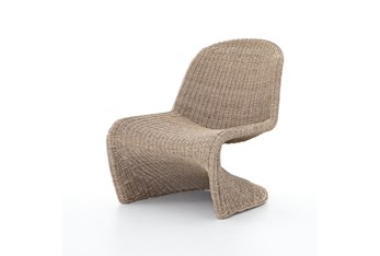 Natural Woven Cantilever Outdoor Chair