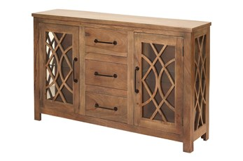 Mango Wood Fretwork Sideboard