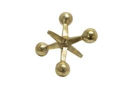 5 Inch Gold Metal Jacks Sculpture