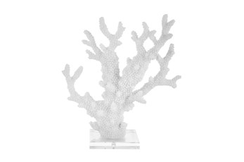 13 Inch White Coral On Acrylic Base