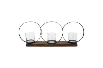 28 Inch 3 Ring Candle Holder