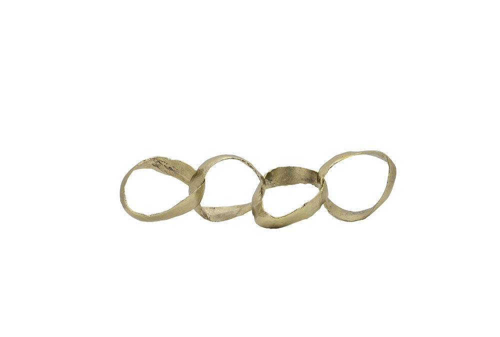20 Inch Gold Metal Linked Rings Chain