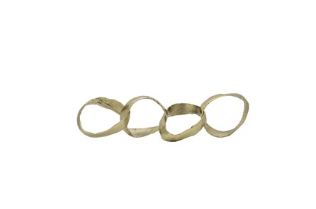 20 Inch Gold Metal Linked Rings Chain - Main