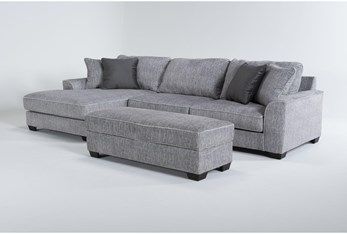 """Elias 127"""" 2 Piece Sectional With Left Arm Facing Chaise & Storage Ottoman"""
