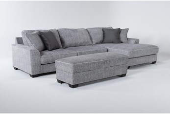 Elias 2 Piece Sectional With Right Arm Facing Chaise & Storage Ottoman
