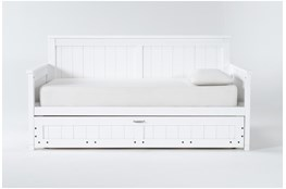 Mateo White Twin Daybed With Trundle