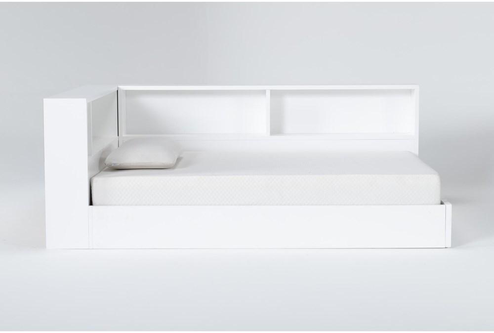 Mateo White  Full Corner Bookcase Bed