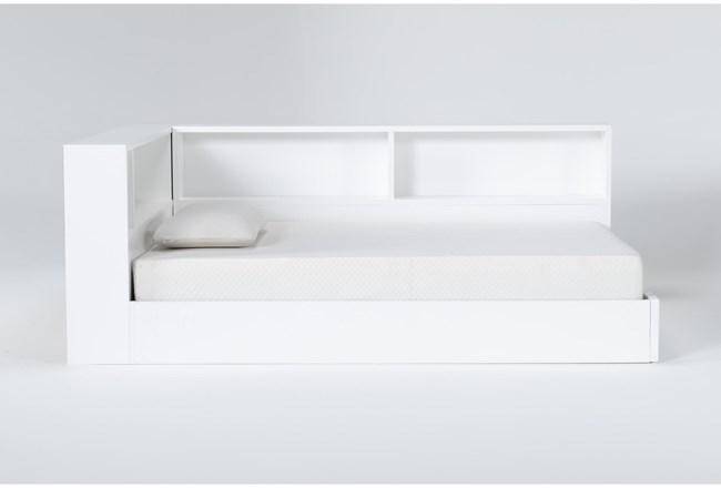 Mateo White  Full Corner Bookcase Bed - 360