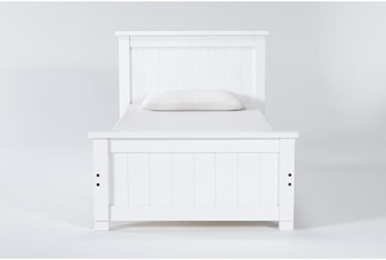 Mateo White  Twin Panel Bed