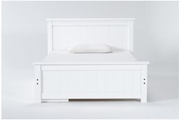 Mateo White  Full Panel Bed With Single 3 Drawer Storage Unit