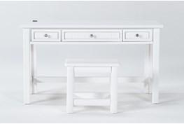 Mateo White Desk/Bench