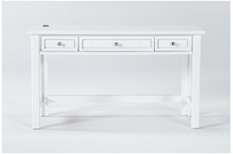 Mateo White Desk With Usb