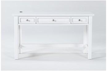 Mateo White Desk With Usb