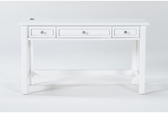 Mateo White Desk With Usb - 360