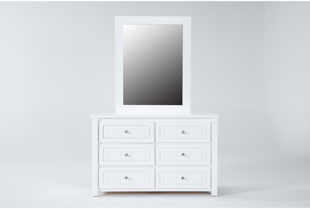 Mateo White Dresser/Mirror