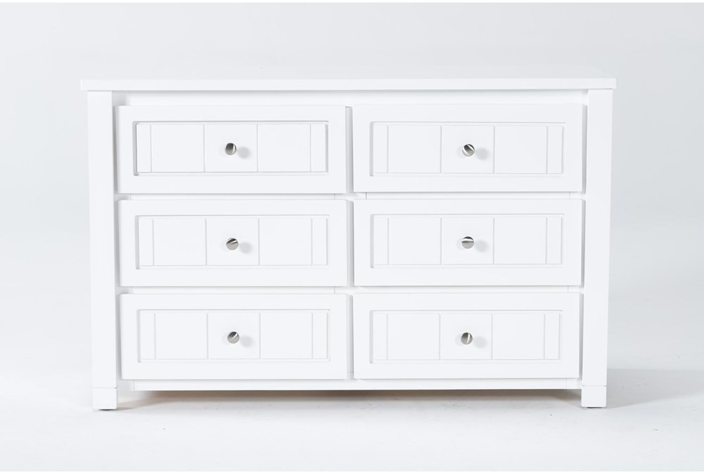 Mateo White 6 Drawer Dresser