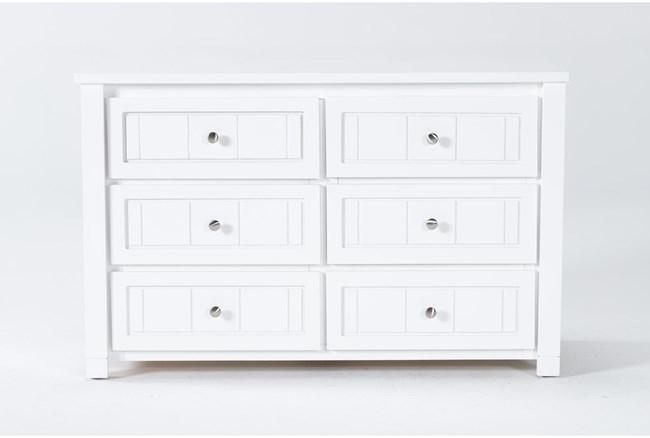 Mateo White 6 Drawer Dresser - 360