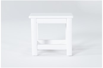 Mateo White Desk Bench