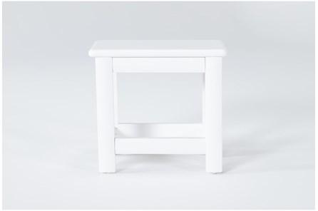 Mateo White Desk Bench - Main