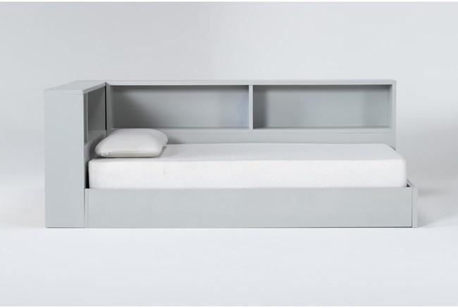 Mateo Grey Twin Corner Bookcase Bed - 360