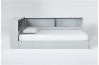 Mateo Grey Full Corner Bookcase Bed