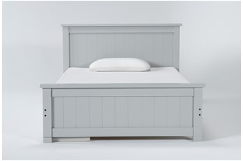 Mateo Grey Full Panel Bed With Single 3 Drawer Storage Unit