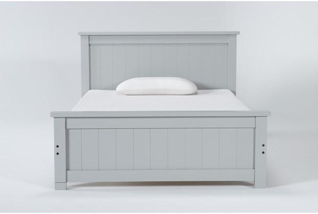 Mateo Grey Full Panel Bed - 360