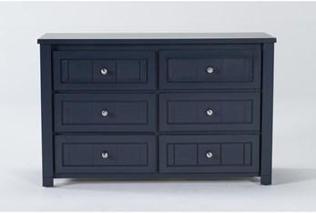 Mateo Blue 6 Drawer Dresser