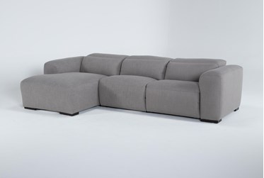 """Morro Bay 3 Piece 128"""" Power Reclining Sectional With Left Arm Facing Chaise"""
