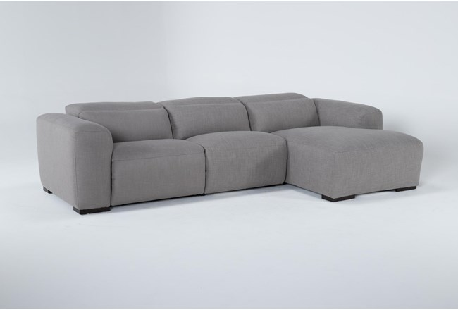 Morro Bay 3 Piece Power Reclining Sectional With Right Arm Facing Chaise - 360