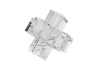 5 Inch Clear Crystal Jacks Sculpture