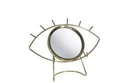 8 Inch Gold Metal Tabletop Eye Mirror